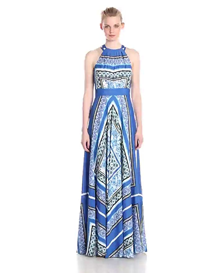 c3fb11514fe Eliza J Women s Scarf Print Maxi Dress at Amazon Women s Clothing store