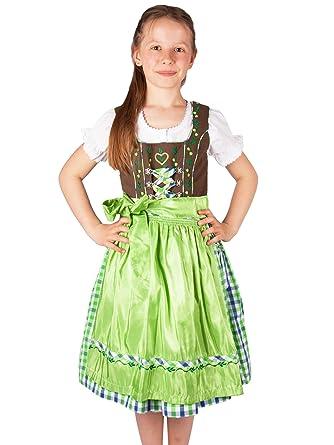 27ee858e42c706 Lekra süßes Kinderdirndl apfel-grün oder türkis Petra Set 3-tlg m. Bluse