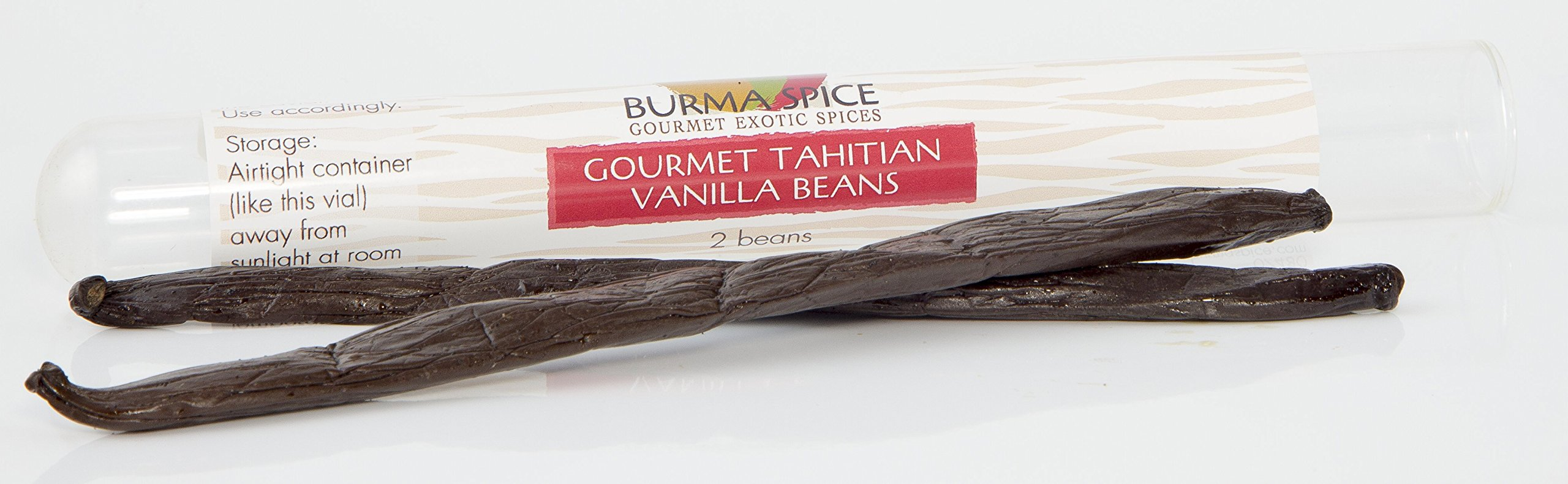 Tahitian Vanilla Beans (2), Authentic from Tahiti, not PNG, Award Winning