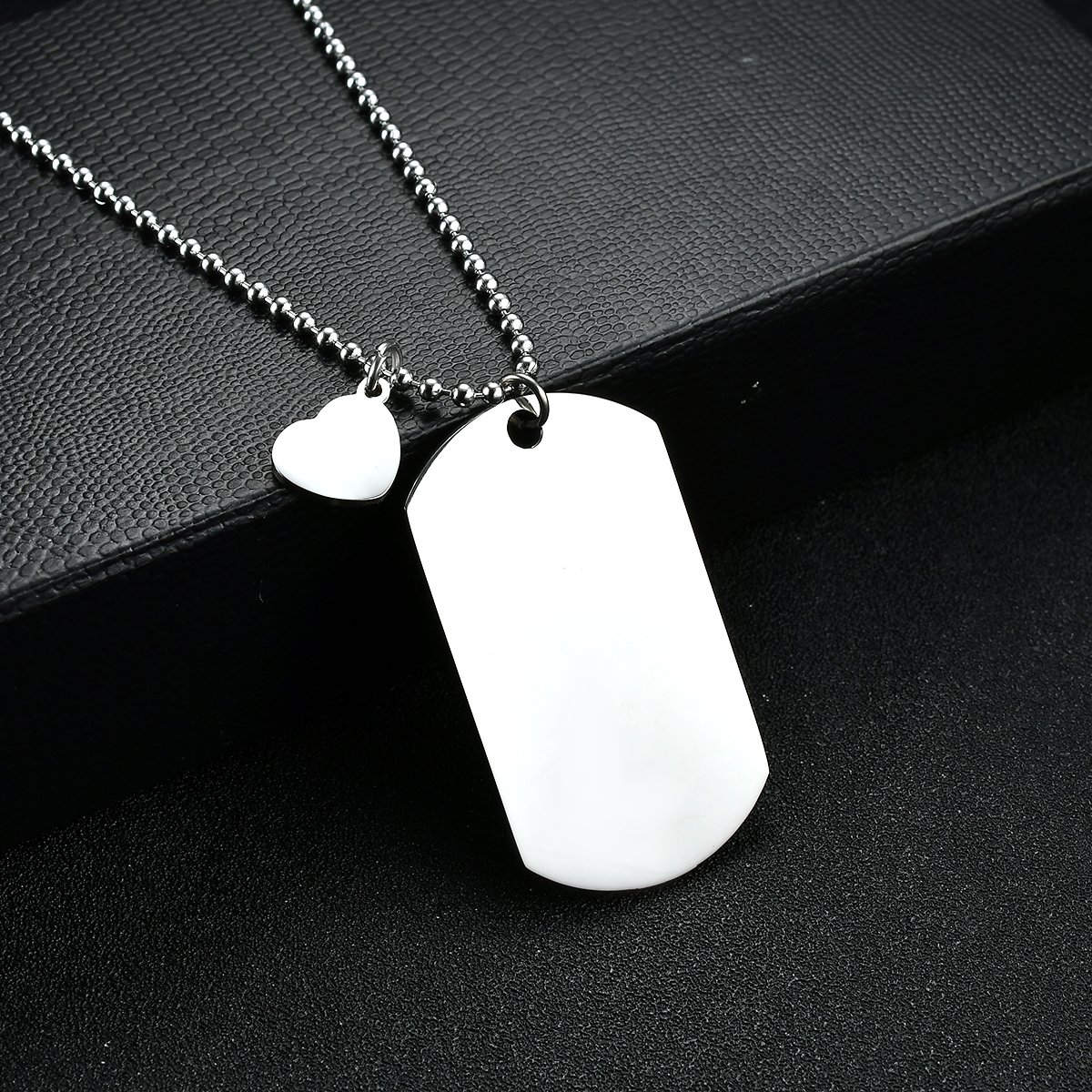 NOVLOVE To My Son from dad Never Forget That I Love Dad You Dog Tag Father Daddy Stay Positive Never Give Up Quotes Military Air Force Navy Necklace Gift Best Son Birthday Graduation by NOVLOVE (Image #4)