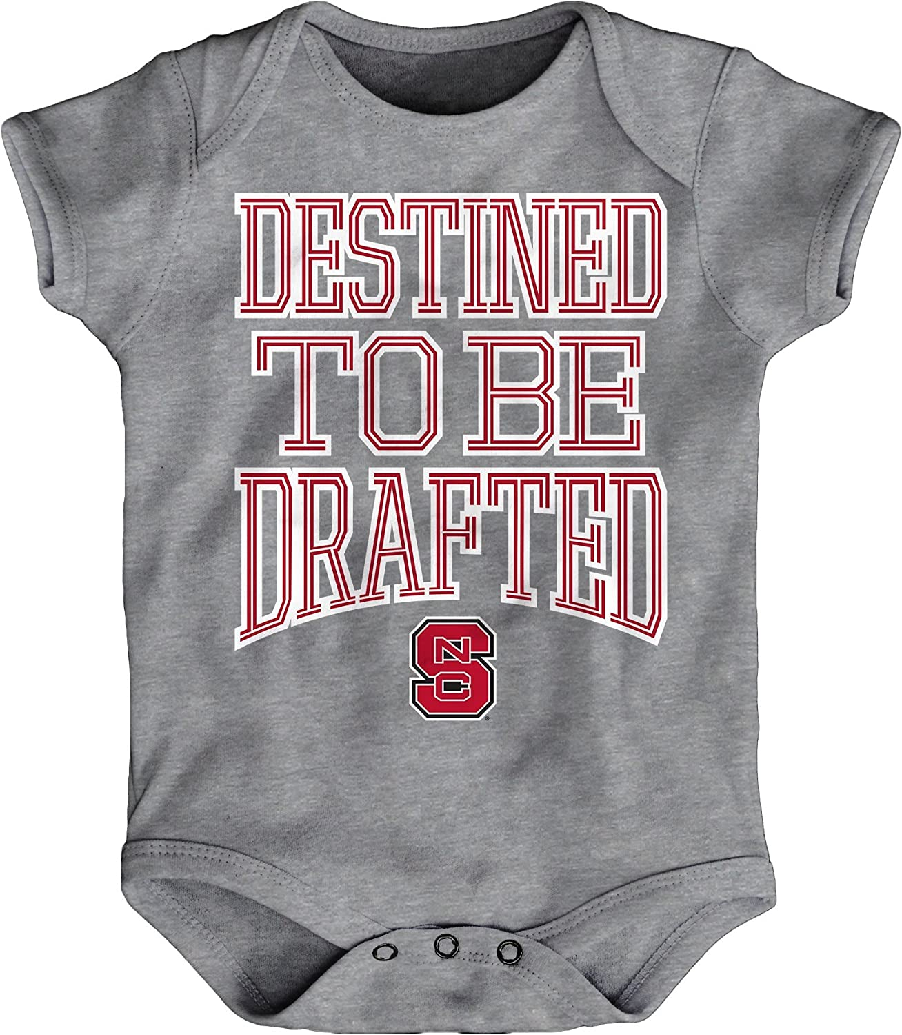 NCAA by Outerstuff NCAA North Carolina State Wolfpack Newborn /& Infant Destined Short Sleeve Bodysuit 12 Months Heather Grey