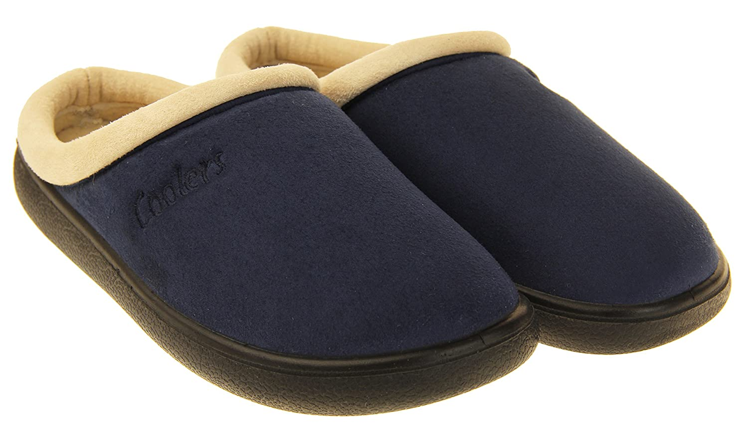 M US Coolers Womens Navy Suede Effect Outdoor Sole Mules Slippers 8 B
