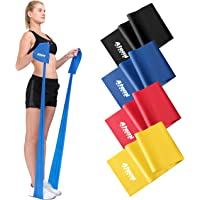 Resistance Band | 1.2 Metre or 2 Metre | Four Resistance Levels | Free Workout Guide | Exercise Band Ideal for…