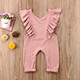 XARAZA Toddler Baby Girl Ruffle Loose Jumpsuit