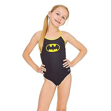 8de09bf31 Zoggs Bañador para niñas Batman Sprintback Bañador