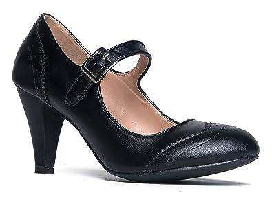 Kym Round Toe Oxford Heel