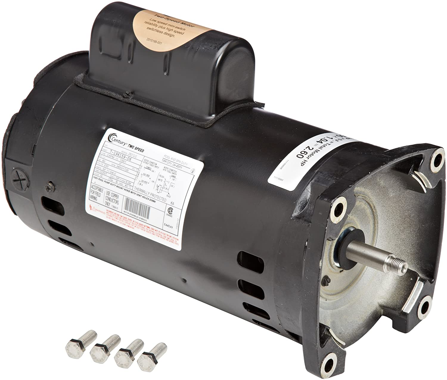Zodiac R0479309 25 Hp 2 Speed Motor Replacement For Pool Wiring Diagram Jandy Stealth Plushp Series Pumps Swimming And Spa Supplies Garden