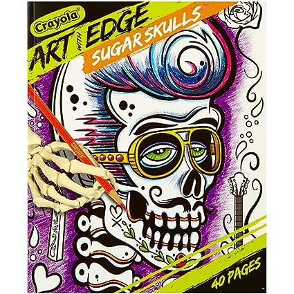 Amazon.com: Crayola Sugar Skulls Coloring Book, Teen Coloring, 40 ...