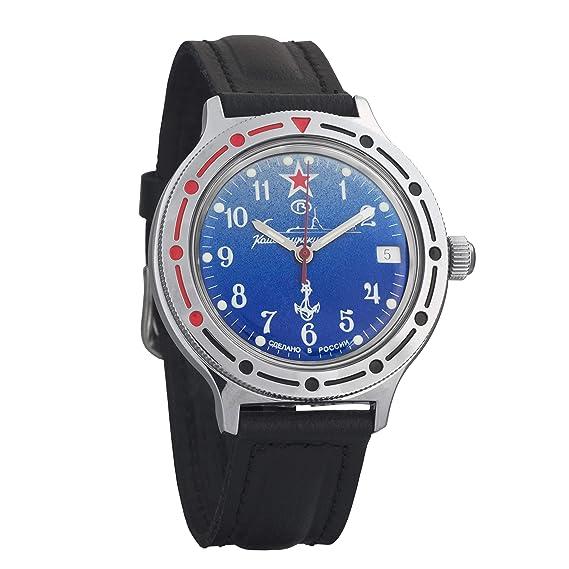 Vostok # 921289 KOMANDIRSKIE mecánico automático ruso muñeca reloj 2416b: Amazon.es: Relojes
