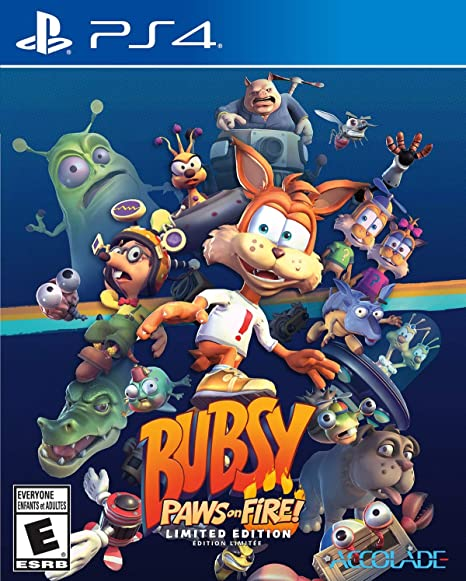 Jogo Bubsy Paws On Fire Limited Edition - Playstation 4 - Accolade