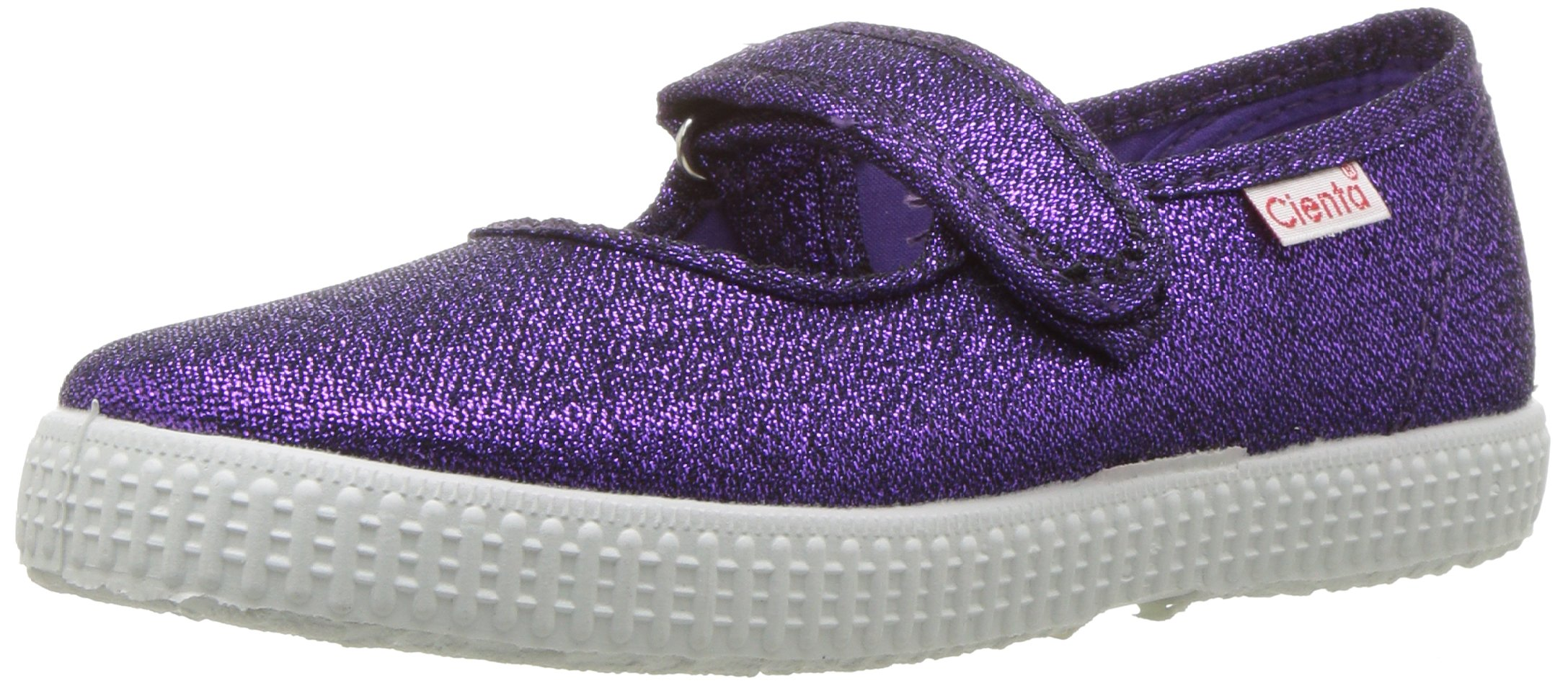 Cienta 56013 Glitter Mary Jane Fashion Sneaker,Purple,23 EU (6.5 M US Toddler)