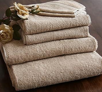 Homescapes Lote de 4 Toallas 100% algodón Turco, Color Negro (Cara, Manos, Ducha y baño Grande): Amazon.es: Hogar