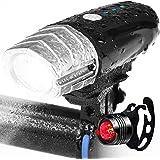 自転車 ライト、ZENBRE Vanite5 自転車 リモコン式・USB充電式 ヘッドライト【IPX6防水/ブザー&ウインカー付き/高輝度3モード/360度回転/懐中電灯兼用】 ロードバーク・夜乗り・アウトドア
