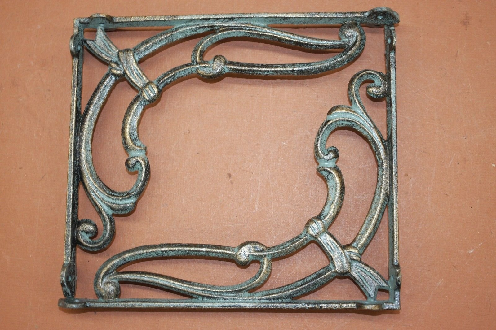 1920's Art Deco Vintage-Style Shelf Brackets Cast Iron Bronze-look Finish, 9 7/8'', B-48, Set of 8 by Cast Iron Home Decor Collectibles