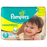 Amazon Price History for:Pampers Swaddlers Disposable Diapers Size 5, 20 Count, JUMBO