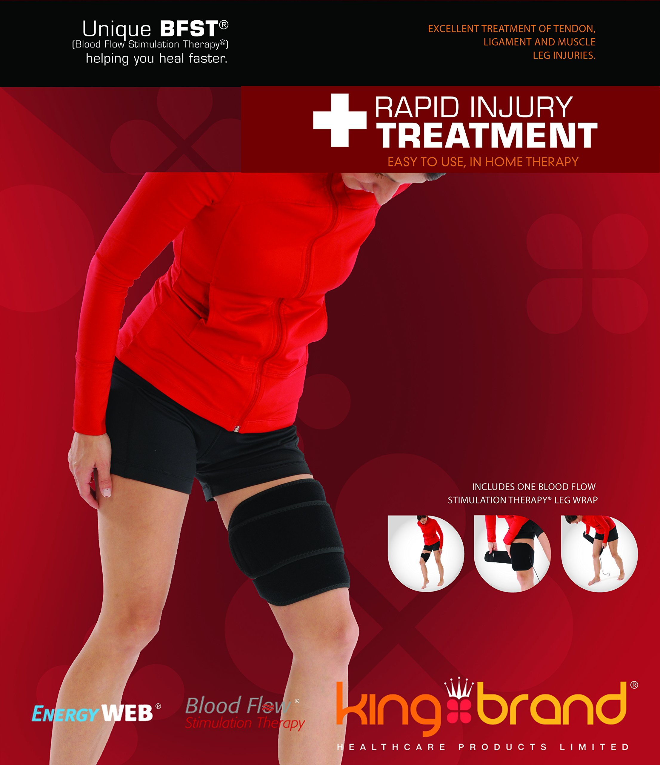 BFST® Leg Wrap - Rapid Injury Treatment for Hamstrings, Quads, Calf Strains, Shin Splints, ITBS and More by BFST