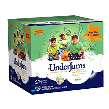 Pampers UnderJams Boys Size 7 (S/M) Diapers Big Pack 50 Count