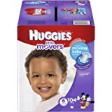 Huggies Little Movers Diapers Step 6, Economy Plus, 104 Count