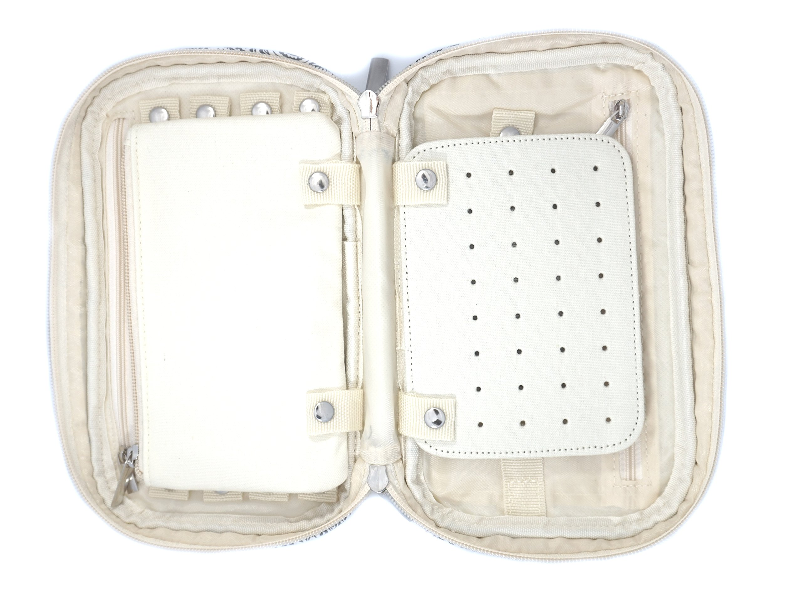 Jewelry & Accessories Travel Organizer Bag Case (Black) by Simple Accessories (Image #8)