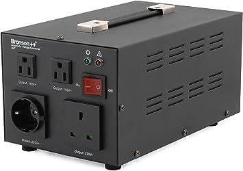 Bronson++ AVT 2000 - Transformador de 110/120 Voltios Convertidor de Voltaje EE.UU.: Amazon.es: Electrónica