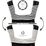 Kaydee Baby ONE PIECE ORGANIC Reversible Drool & Teething Pad With ORGANIC Fleece Inner Lining for Ergobaby Carrier - Variety of Colors Available (Stripes)