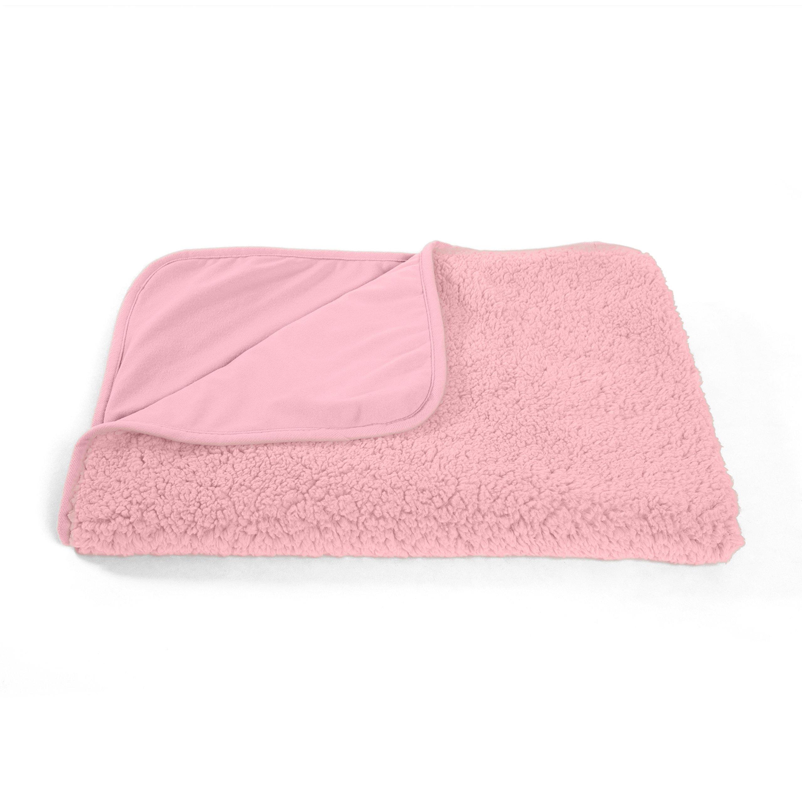 Best Friends by Sheri Sherpa Pet Throw Blanket/Portable Dog Mat/Cat Mat, 30''x40'', Pink