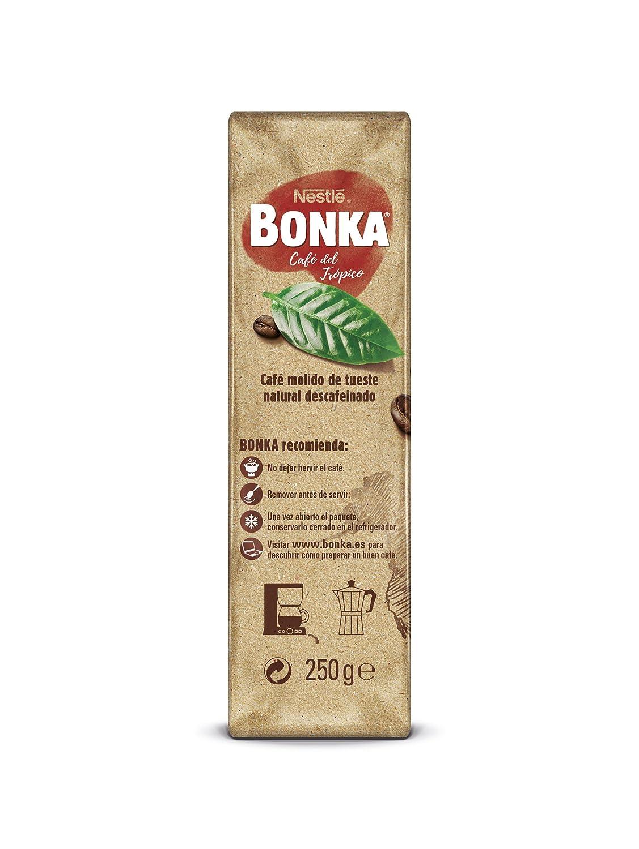Bonka Café molido de tueste natural descafeinado y de cultivo sostenible-: Amazon.es: Amazon Pantry