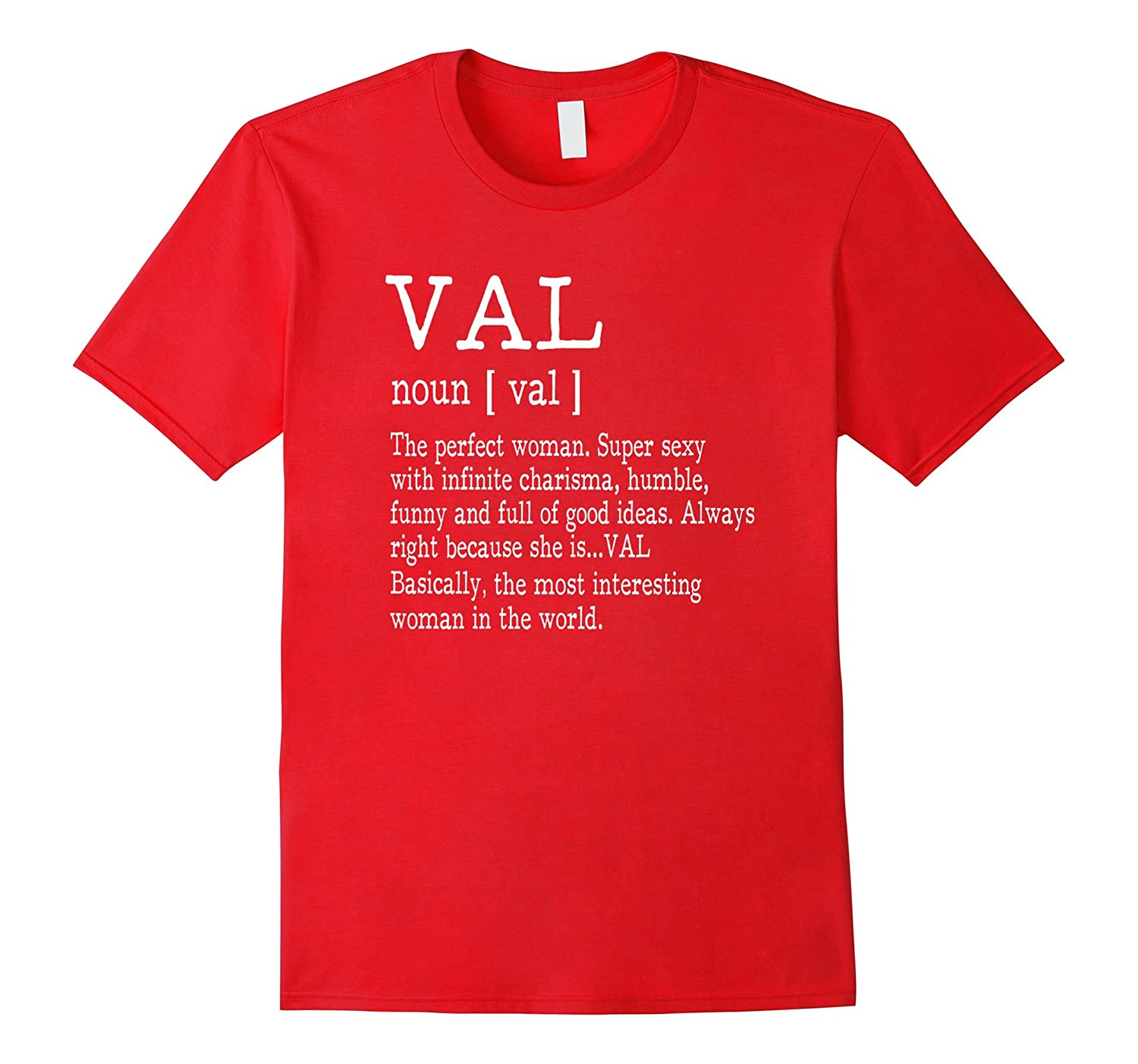 Adult Definition - First Name Val - Ladies T-Shirt Funny-FL