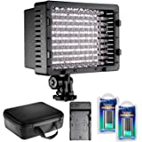 Neewer CN-126 LED Video Light Dimmable Lamp Panel Kit Includes: Video Light with Color Filters, Battery, AC Wall Charger with Car Adapter and Carrying Case for Cannon DSLR Cameras and DV Camcorders