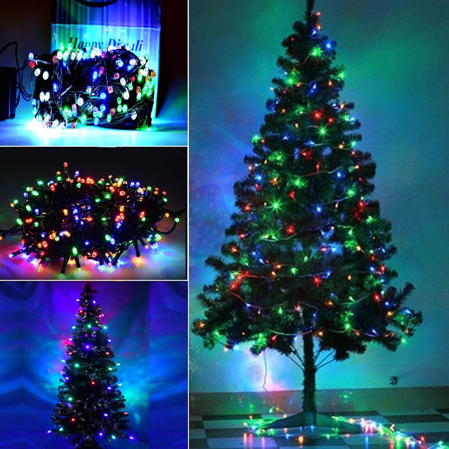 Buy A2z Artificial Christmas Tree And Multicolour Led Lights Online At Low Prices In India Amazon In A christmas tree is a decorated tree, usually an evergreen conifer such as spruce, pine, or fir or an all photos are checked for quality, so you get only beautiful desktop wallpapers. a2z artificial christmas tree and multicolour led lights