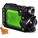 Olympus TG-Tracker with 1.5-Inch LCD (Green) & Super Savings Lens Cleaning Cloth