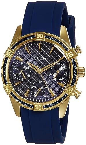 Guess Damen-Armbanduhr Analog Quarz Silikon W0562L2
