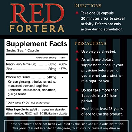 red fortera erectile dysfunction treatment review