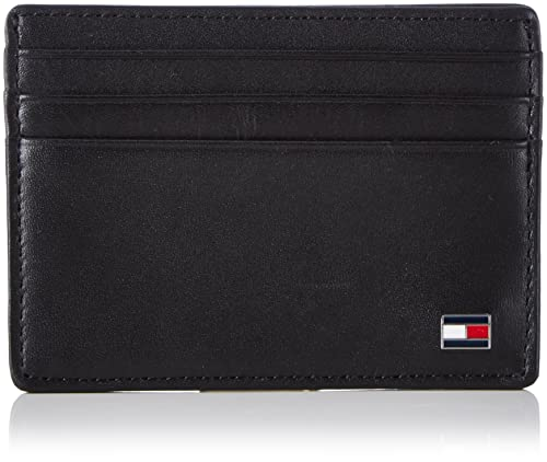 Tommy Hilfiger Eton CC Holder - Cartera para Hombre, Black 2, Talla Unica