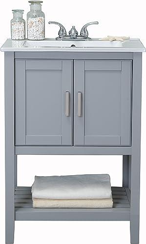 Legion Furniture WLF6020-G BATHROOM VANITY, 24 x 18.3 x 33.7 , Gray