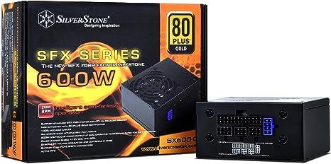 Silverstone SST-SX600-G Semi-Fanless SFX//ATX Modular 600W Power Supply
