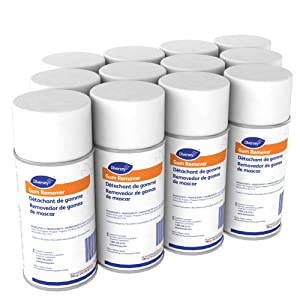 Diversey Gum and Wax Remover - Effective on the Removal of Gum, Candle Wax, and More from Carpets, Upholstery, and Hard Surfaces - 6.5 oz. Aerosol Can (12 Pack)