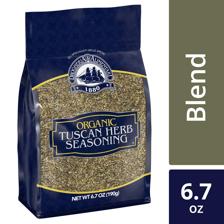 D&A Organic Tuscan Herb Seasoning Blend (Bulk Bag, Italian Cooking, Resealable), 6.7 oz