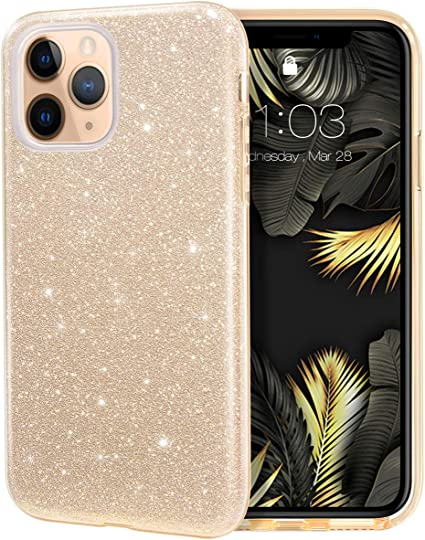 MILPROX iPhone 11 Pro Max Case, Bling Sparkly Glitter Luxury Shiny Sparker  Shell, Protective 3 Layer Hybrid Anti,Slick Slim Soft Cover for iPhone 11