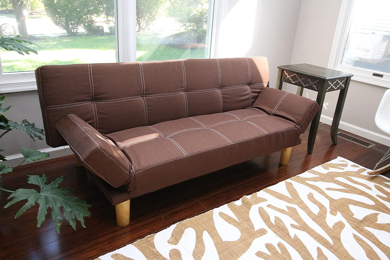 Delaney Futon Sofa Bed Brown