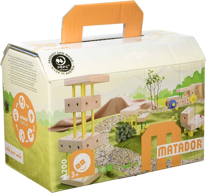 Ksm Toys Matador Ki 2 - 108 Piece Basic 3-Dimensional Wooden Building Satz für Ages 3-5 (gemacht bei Austria)