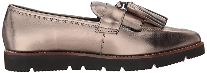 Amazon.com | STEVEN by Steve Madden Womens Naomie Penny Loafer, Pewter Leather, 8 M US | Loafers & Slip-Ons