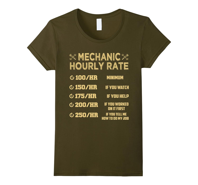 Mechanic Hourly Rate T-Shirt-Awarplus
