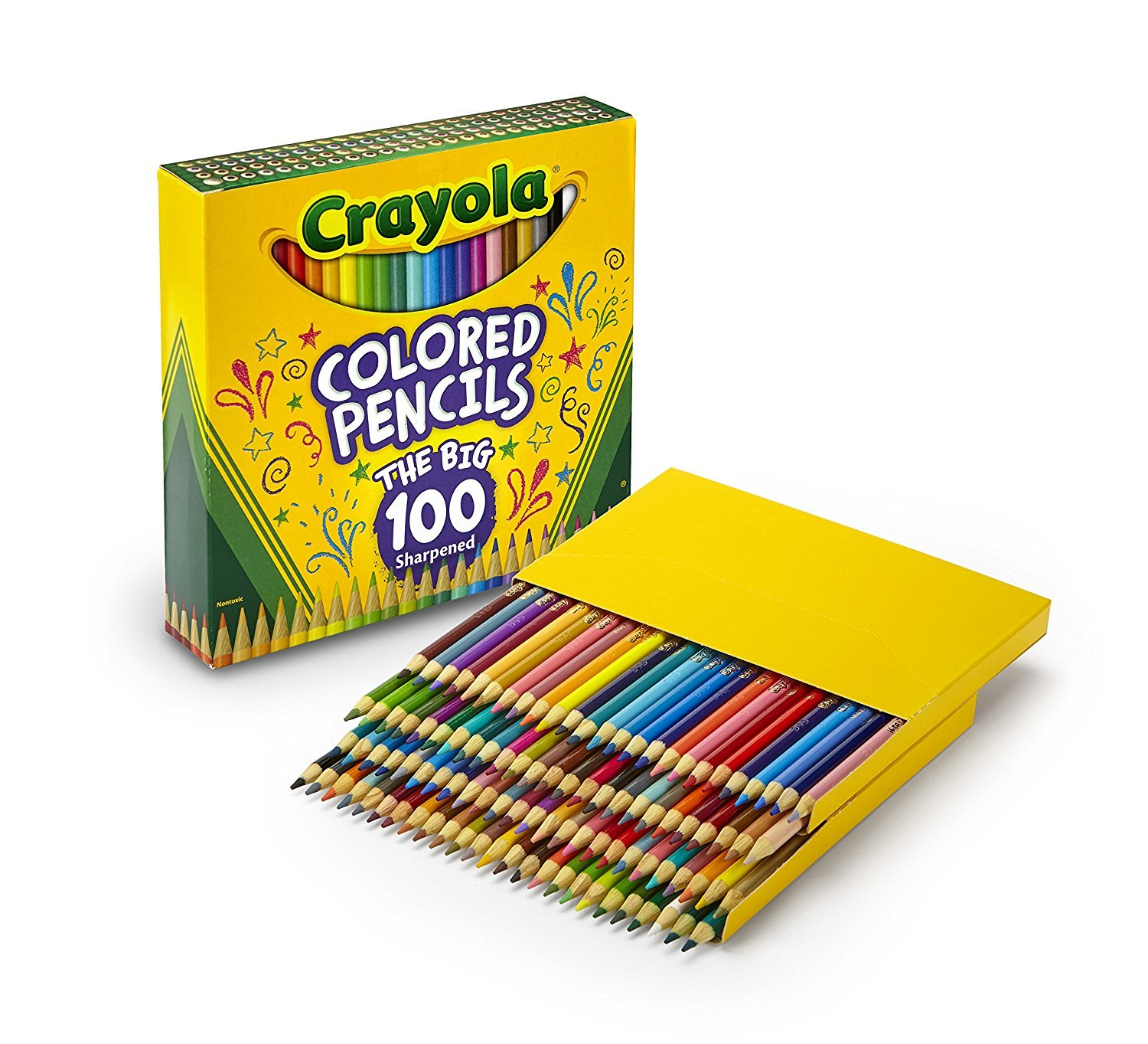 Crayola Different Colored Pencils, 100 Count, Adult Coloring by Crayola