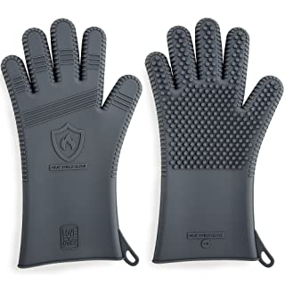 Premium Silicone BBQ Gloves & Grill Gloves in Attractive Gift Box | 13.5