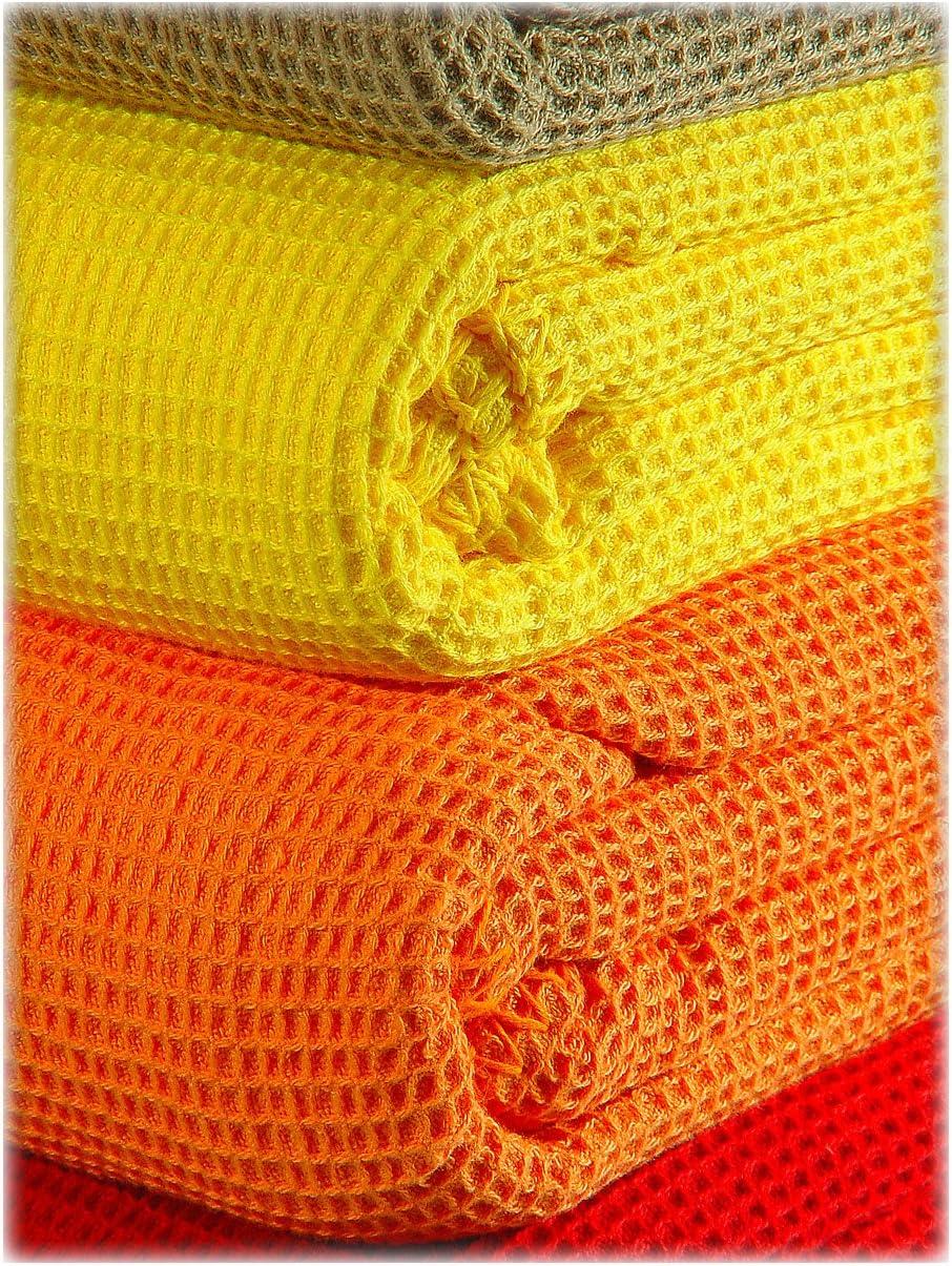 150 cm x 210 cm kneer KULTUR DER NACHT Waffelpique Decke Baumwolle Wei/ß