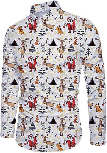 Idgreatim Ugly - Camisa de Navidad para hombre, manga larga ...