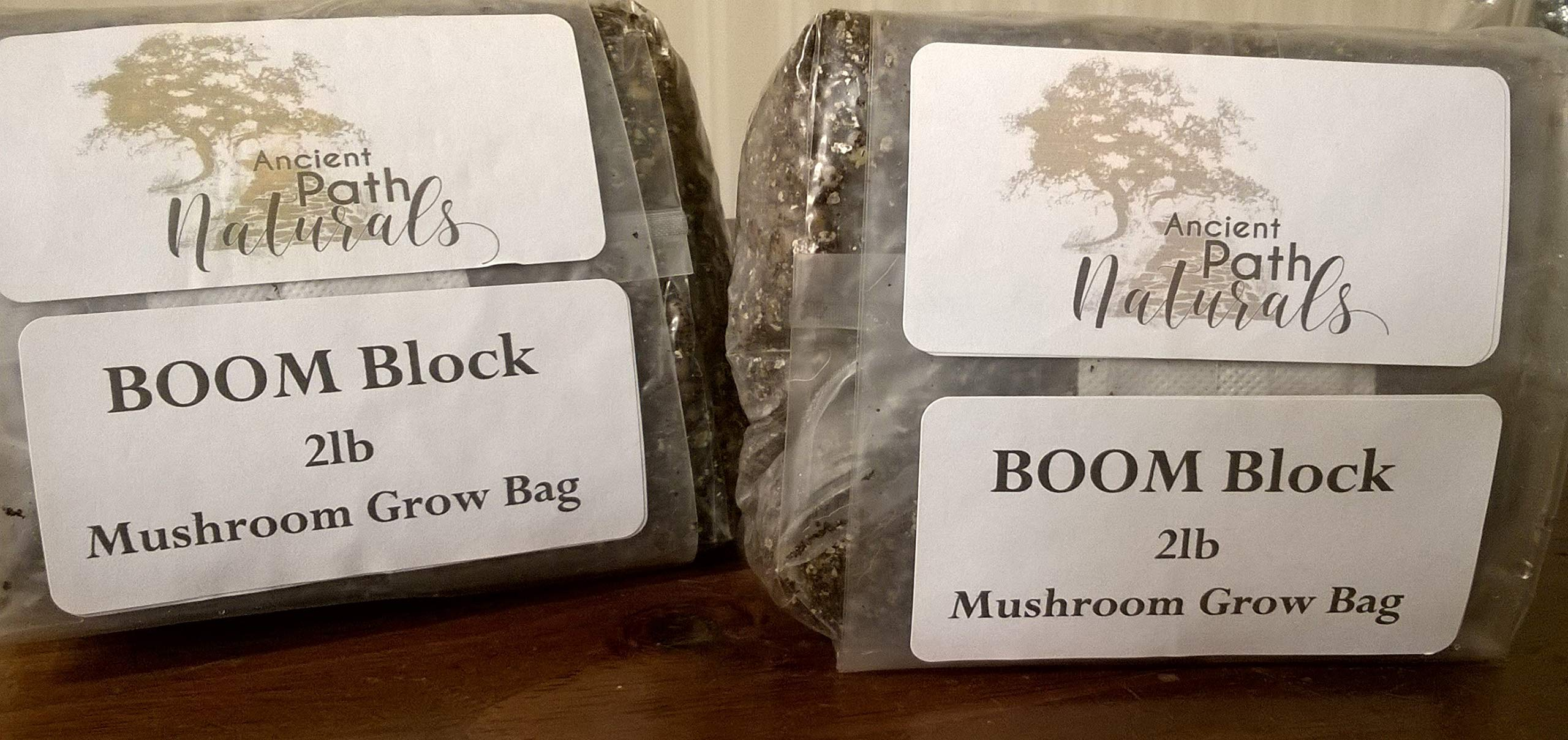 2lb Boom! Sterile Mushroom Spawn BagsReady to Grow, Just add Spores