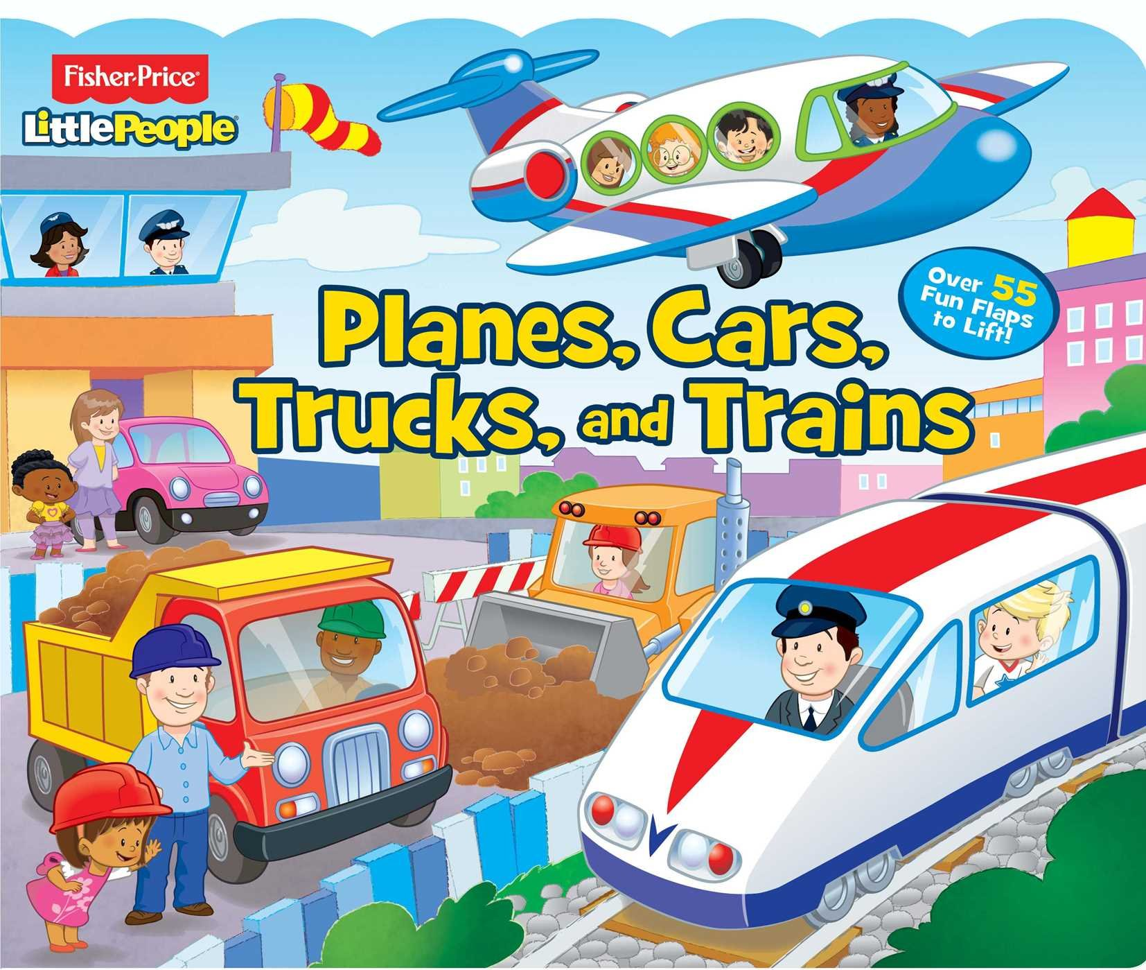 fisher price little people planes cars trucks and trains lift