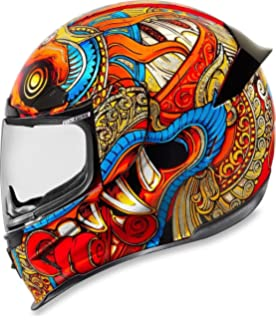 Icon CASCO BARONG RED SM (M)